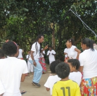 Dancing with the village girls