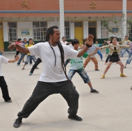 Tai Chi in the playground