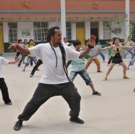 Tai Chi in the playground