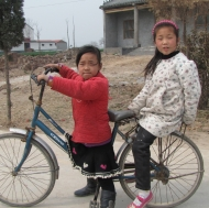 Supermodels on a bike