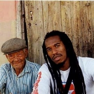 Me with Grandad in Jamaica