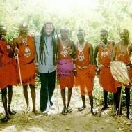 Maasai and me in Kenya